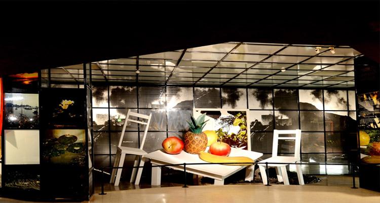 Phần trưng bày tham quan Bải tàng Hồ Chí Minh