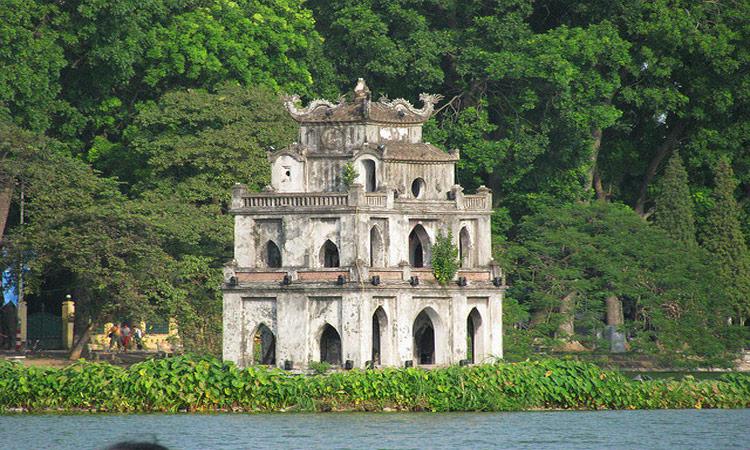 ảnh Hồ Gươm Hà Nội-tháp rùa