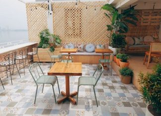 Cafe Hồ Tây cuối tuần