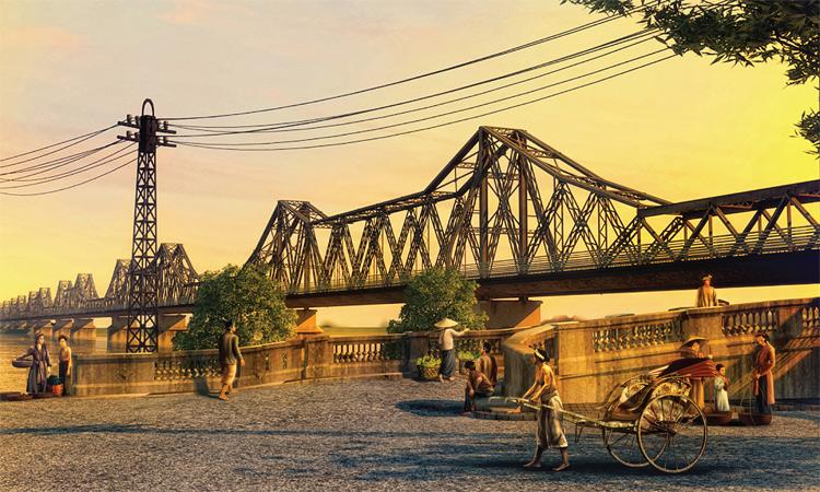 Cầu Long Biên Hà Nội khi xưa