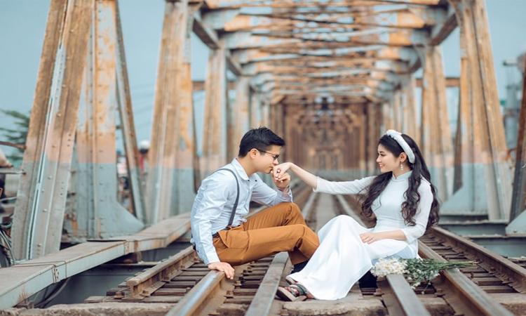 Cầu Long Biên Hà Nội - ảnh cưới