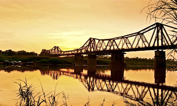 Cầu Long Biên Hà Nội - hoàng hôn