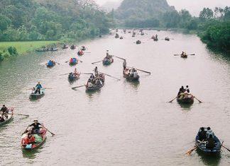 đi đò chùa Hương Hà Nội