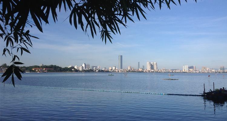 Ảnh Hồ Tây nhìn từ xa