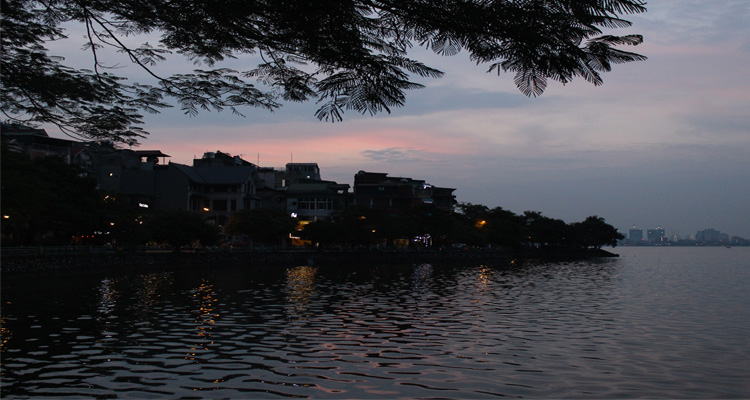 Ảnh Hồ Tây chiều tà