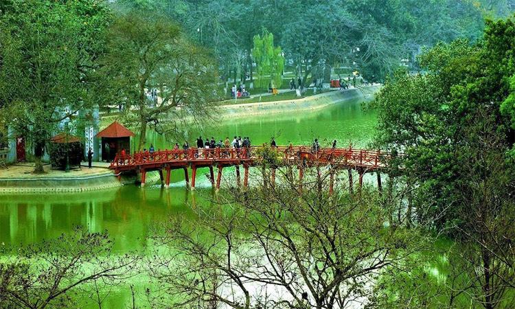 ảnh Hồ Gươm Hà Nội - đền ngọc sơn