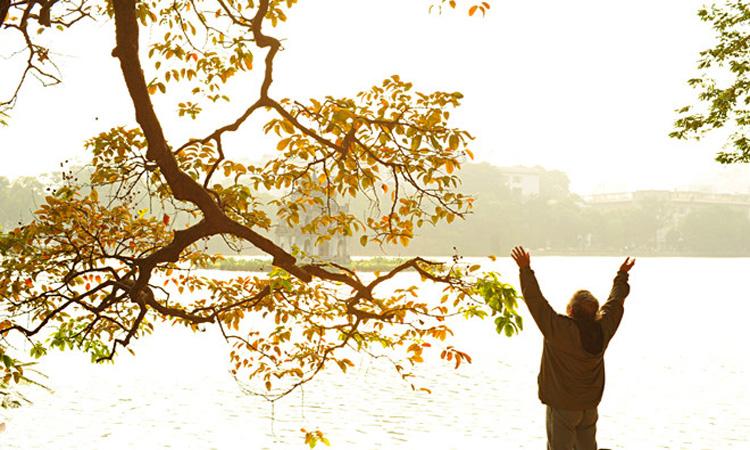 ảnh Hồ Gươm Hà Nội - sáng sớm