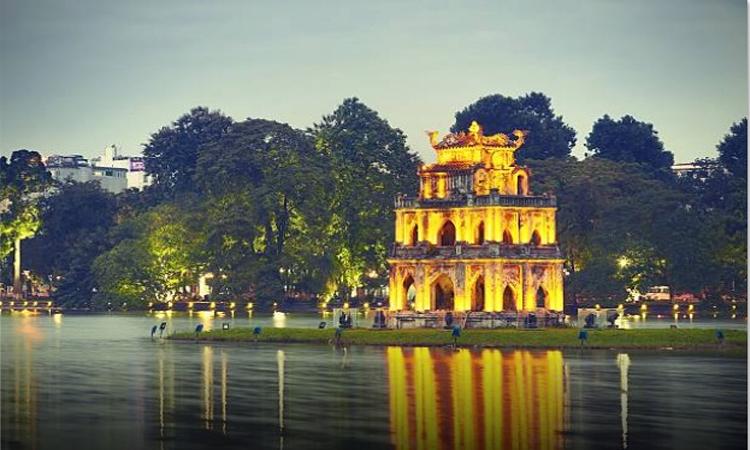 ảnh Hồ Gươm Hà Nội- ánh đèn đêm