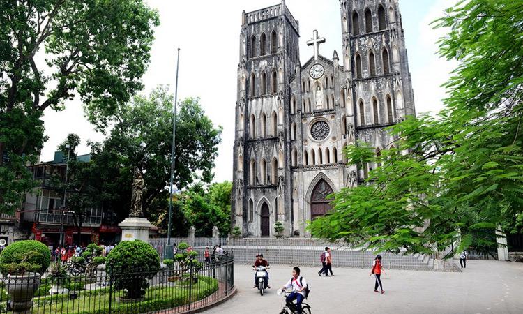 nhà thờ lớn hà nội - vắng vẻ