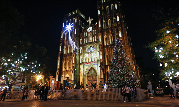 nhà thờ lớn hà nội noel