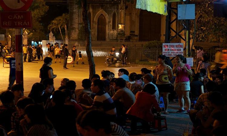 nhà thờ lớn hà nội buổi tối