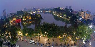 ảnh Hồ Gươm Hà Nội - từ trên cao