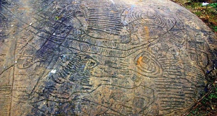Bãi đá cổ Sapa - đá họa tiết 1
