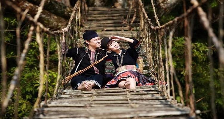 Cầu Mây Sapa trước kia chỉ để phục vụ cho người dân địa phương đi từ Tả Van Giáy đến Thị trấn Sapa.