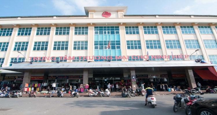 Các khu chợ chính trong chợ Ninh Hiệp