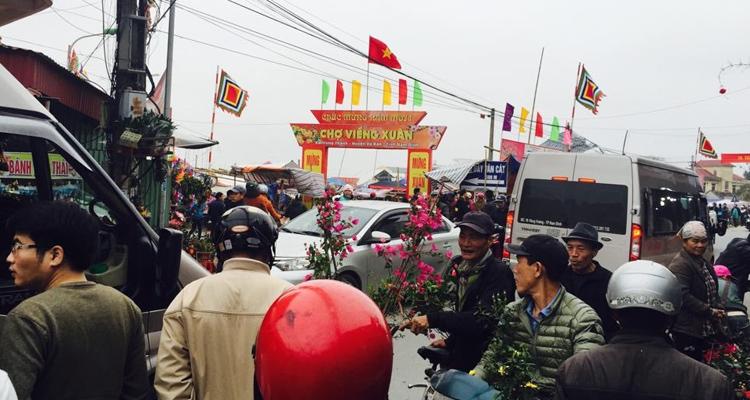 Chợ Viềng Nam Định đông đúc đầu năm