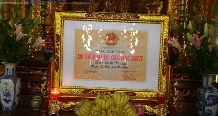 Đền Trần Thương di tích lịch sử cấp quốc gia