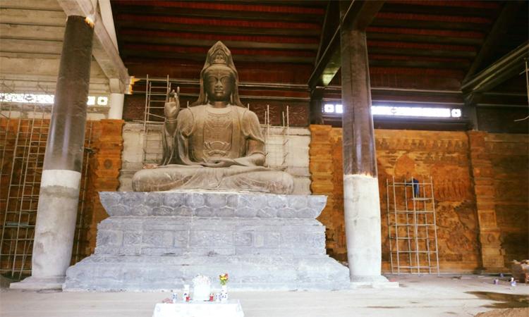 Hình ảnh chùa Tam Chúc - xây dựng tượng