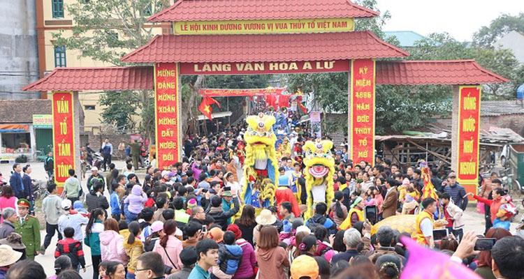 Lăng Kinh Dương Vương lễ hội