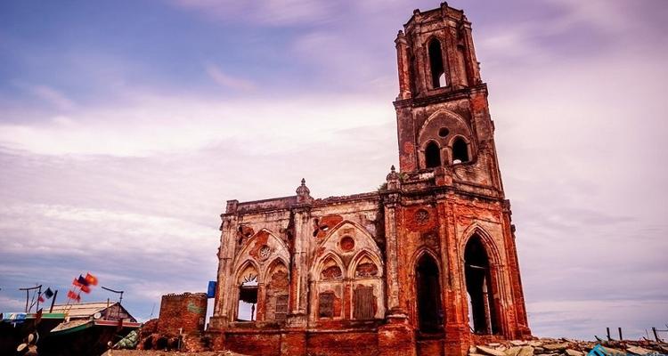 Hình ảnh nhà thờ đổ Hải Lý