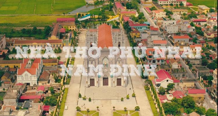 Nhà thờ Phú Nhai nhìn từ trên cao