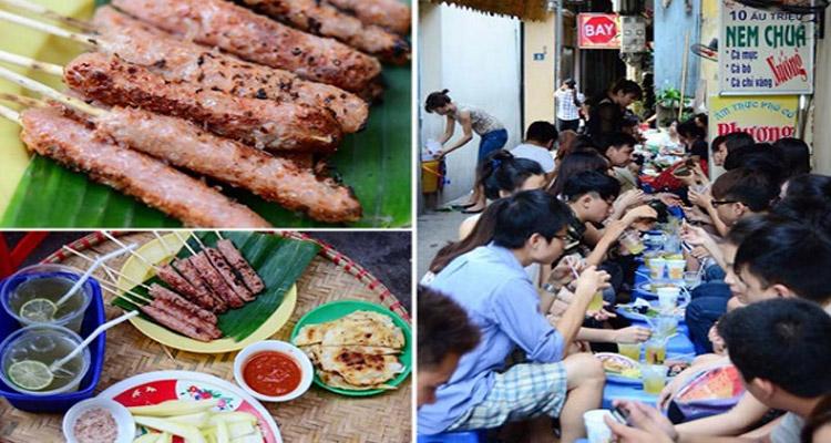 Các món ăn ở phố Nhà Thờ