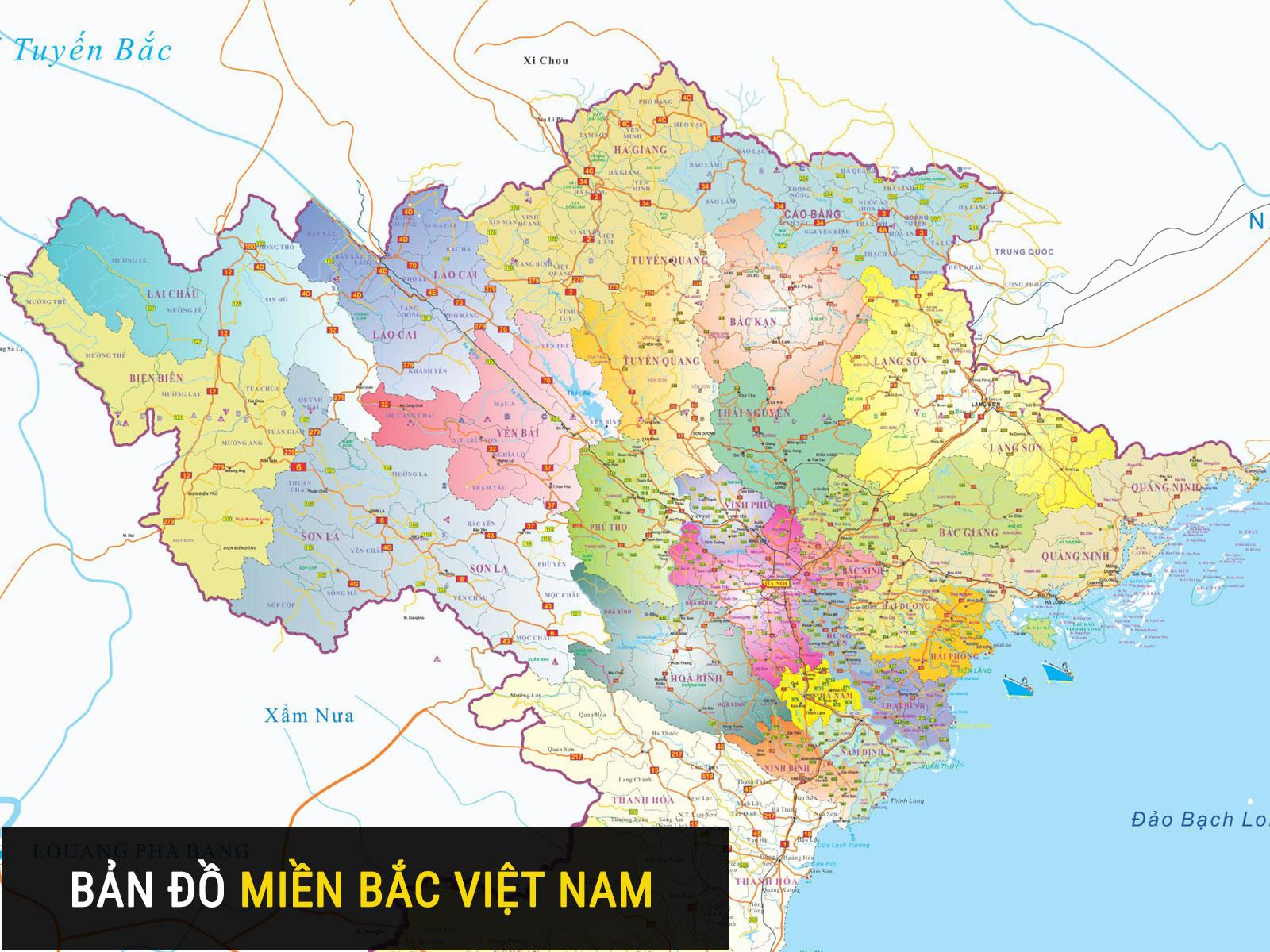 Bản đồ Miền Bắc Bản đồ Cac Tỉnh Thanh Miền Bắc Việt Nam