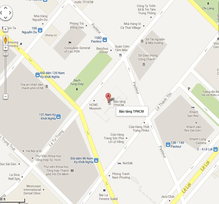 Bảo tàng Thành phố Hồ Chí Minh - bản đồ