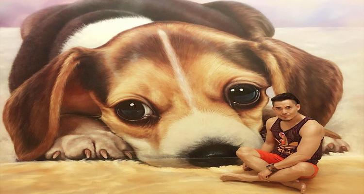 Bảo tàng tranh 3D -chó