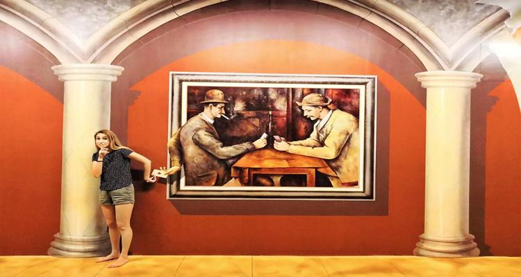 Bảo tàng tranh 3D - trưng bày