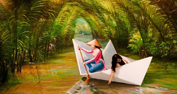 Bảo tàng tranh 3D - thuyền