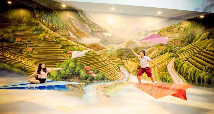 Bảo tàng tranh 3D - đồng lúa