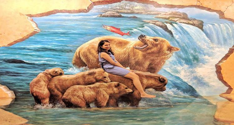 Bảo tàng tranh 3D - gấu