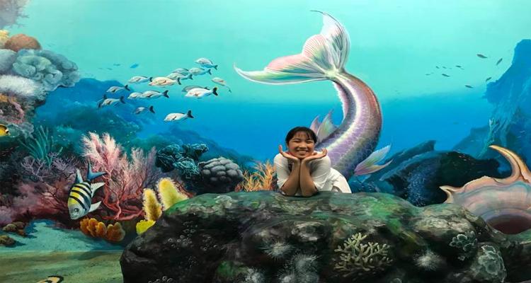 Bảo tàng tranh 3D - dưới nước