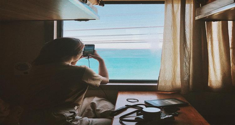 Đi bằng tàu hỏa đến biển Lăng Cô