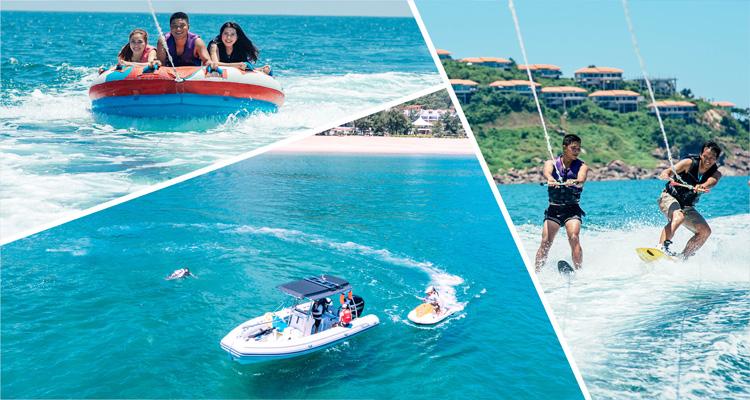 Phần đông du khách đến với Vịnh Lăng Cô đều thích thú tham gia các hoạt động như câu cá, lặn biển và leo núi