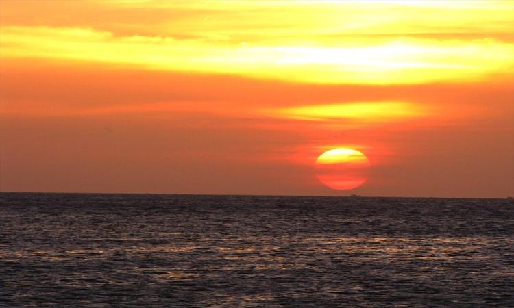 Biển Long Hải - hoàng hôn