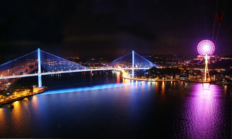 Cầu Bãi Cháy - đèn led
