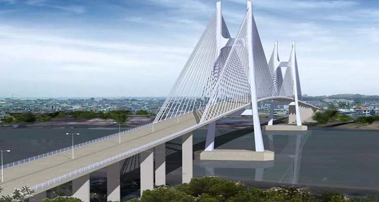 Cầu Phú Mỹ là cầu dây văng lớn nhất Thành phố Hồ Chí Minh