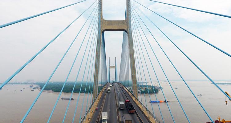 Cầu Phú Mỹ là cầu dây văng hiện đại nhất thế giới, là công trình trọng điểm của Việt Nam.