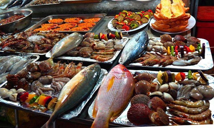 Chợ đêm Phú Quốc - món ăn