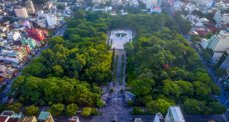 Công viên Lê Văn Tám - toàn cảnh