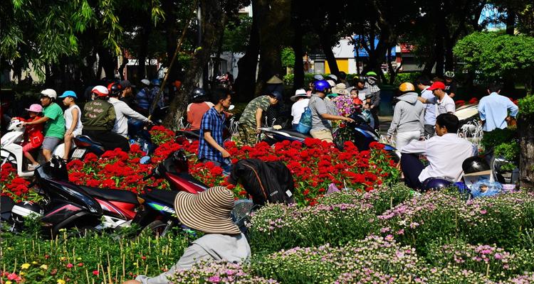 Công viên Lê Văn Tám - chợ hoa