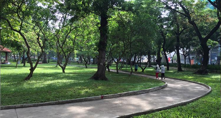 Công viên Lê Văn Tám - xanh