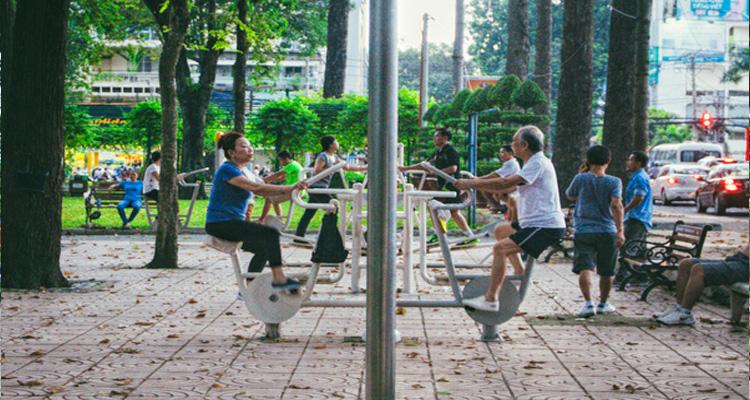 công viên Tao Đàn thuộc khuôn viên của Dinh Toàn quyền Pháp
