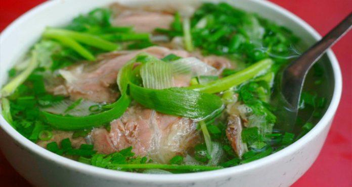 Đặc sản Nam Định - phở bò