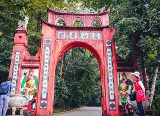Đền Hùng Phú Thọ cổng lên đền