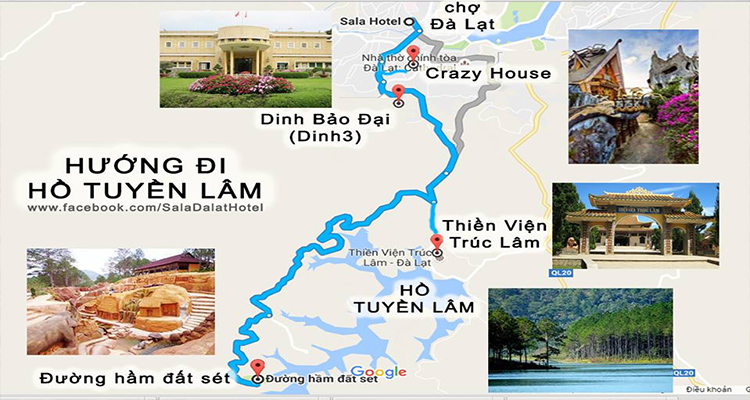 Dinh Bảo Đjại - bản đồ