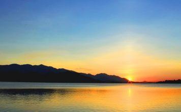 Hồ Núi Cốc Thái Nguyên hoàng hôn