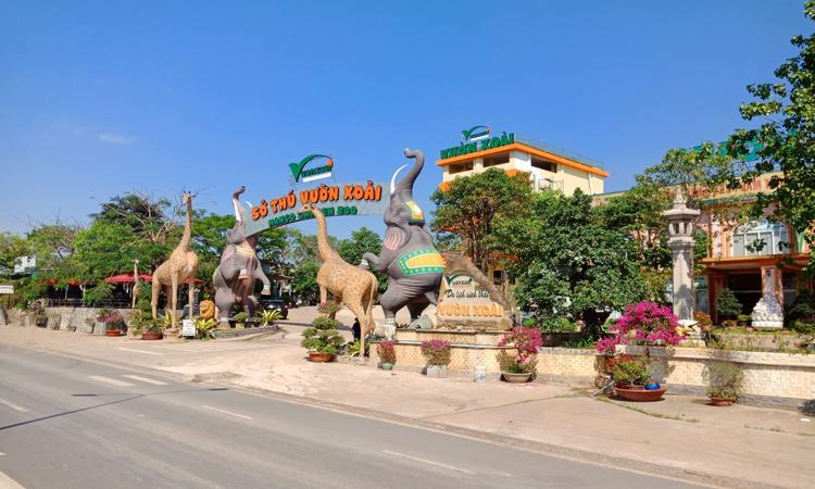 Khu du lịch Vườn Xoài - cổng vào